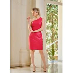 Vestido de Couro Feminino Vermelho Louise - ELITE COURO