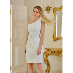 Vestido de Couro Feminino Branco Louise - ELITE COURO