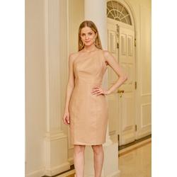 Vestido de Couro Feminino Nude Louise - ELITE COURO