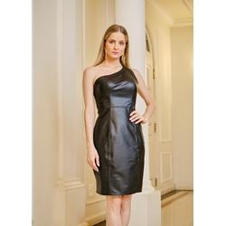 Vestido de Couro Feminino Preto Louise - ELITE COURO