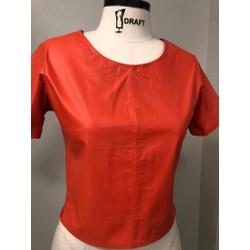 T-shirt de Couro Feminino Coral - ELITE COURO