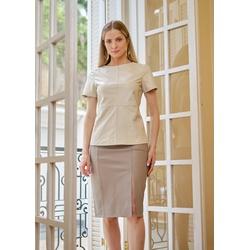 T-Shirt de Couro Feminino Off-White Victoria - ELITE COURO