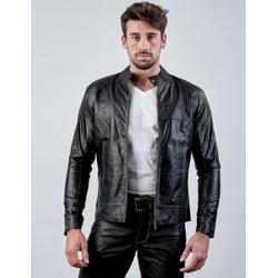Jaqueta de Couro Masculina Preta Jack - ELITE COURO