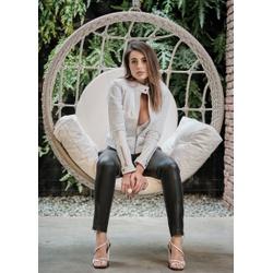 Jaqueta de Couro Feminina Branca Verônica - ELITE COURO