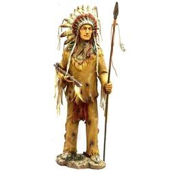 Índio Cacique com Lança Grande - 236 - ELLA ARTESANATOS