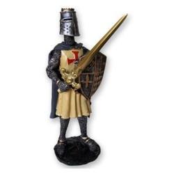 Guerreiro Templário com Escudo - 95295 - ELLA ARTESANATOS