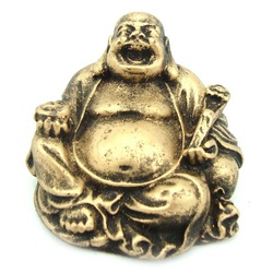 Buda Chinês Mini Dourado - 79 - ELLA ARTESANATOS