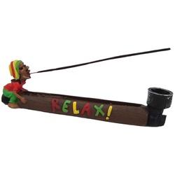 Incensário Bob Marley Relax - 2246 - ELLA ARTESANATOS