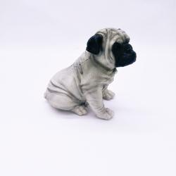 Cachorro Pug Cinza - Ted - 3313 - ELLA ARTESANATOS