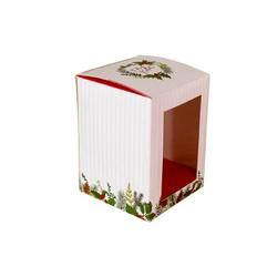 Caixa para bolo de pote Feliz Natal hot Stamping 2... - EMBALAGENS CRIATIVA