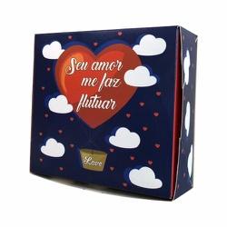 Caixa seu amor me faz flutuar 10 unit 11x11x4cm - ... - EMBALAGENS CRIATIVA
