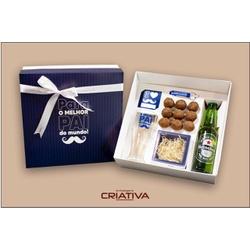CAIXA / KIT PRESENTE + CANECA PARA CHOPP + CHAVEIR... - EMBALAGENS CRIATIVA