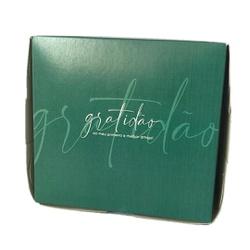 Caixa na cor verde frase gratidão - 0052a - EMBALAGENS CRIATIVA