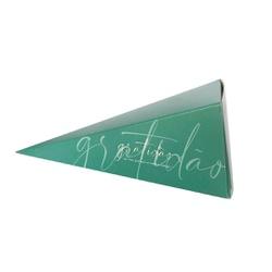 Caixa cone gratidão na cor verde - 0053 - EMBALAGENS CRIATIVA