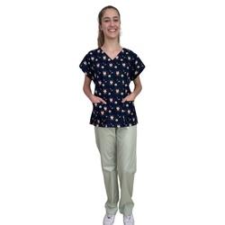 Pijama Cirúrgico Feminino - Raposas 03 - Empório Materno