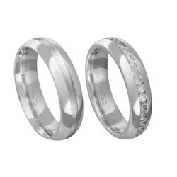 Alianças de compromisso em prata 950 tradicional e... - EMPORIUM DAS ALIANÇAS