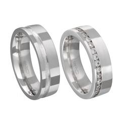 Alianças de compromisso em prata 950 modelo com pe... - EMPORIUM DAS ALIANÇAS