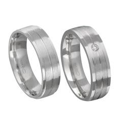 Alianças de compromisso em prata 950 tradicional a... - EMPORIUM DAS ALIANÇAS