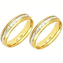 Alianças bodas de prata anatômico em ouro amarelo ... - EMPORIUM DAS ALIANÇAS