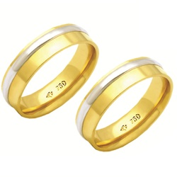 Alianças de casamento e noivado em ouro 18k 750 tr... - EMPORIUM DAS ALIANÇAS