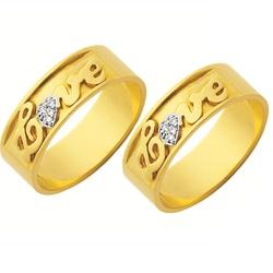 Alianças de casamento e noivado em ouro 18k. 750 t... - EMPORIUM DAS ALIANÇAS
