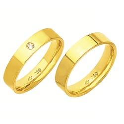 Alianças de casamento e noivado em ouro 18k 750 co... - EMPORIUM DAS ALIANÇAS