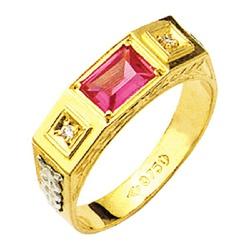 Anel de Formatura com pedra de diamantes em Ouro 1... - EMPORIUM DAS ALIANÇAS