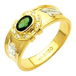 Anel de formatura reforçado com diamantes em ouro... - EMPORIUM DAS ALIANÇAS
