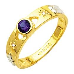 Anel de Formatura com diamantes em Ouro 18k - ANF1 - EMPORIUM DAS ALIANÇAS
