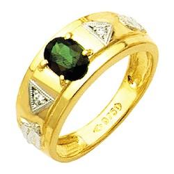 Anel de Formatura reforçados com diamantes em Ouro... - EMPORIUM DAS ALIANÇAS