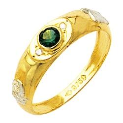 Anel de Formatura com diamantes em Ouro 18k - ANF2 - EMPORIUM DAS ALIANÇAS