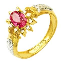 Anel de Formatura com diamantes em Ouro 18k - ANF... - EMPORIUM DAS ALIANÇAS