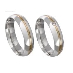 Alianças de compromisso em prata 950 com fio de ou... - EMPORIUM DAS ALIANÇAS