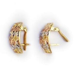 Brinco de Ouro 3 cores Aparatus - Aparatus - EMPORIUM DAS ALIANÇAS