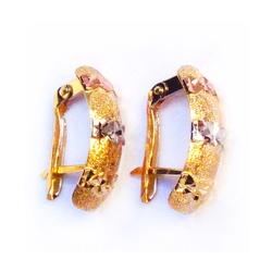 Brinco de Ouro 3 cores Carreira Estelar - Carreira... - EMPORIUM DAS ALIANÇAS
