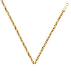 Corrente de Ouro tipo corda Italiana 3 cores - Cor... - EMPORIUM DAS ALIANÇAS
