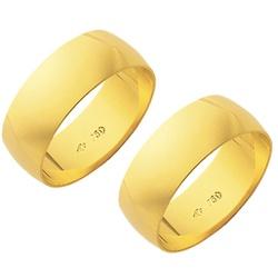 Alianças de casamento e noivado em ouro 18k.750 7m... - EMPORIUM DAS ALIANÇAS