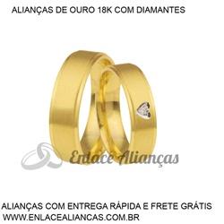 Alianças duas cores de Ouro 18 k - JAB-53 - Enlace Alianças de ouro 18k