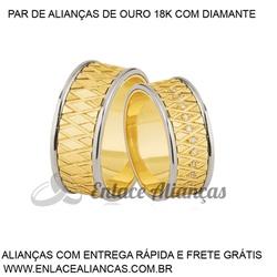 Alianças duas cores de Ouro 18 k - DB-65 - Enlace Alianças de ouro 18k