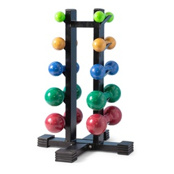 Kit Suporte Torre Expositor + 5 Pares Halteres 1 A... - Equipamentos Line Fitness