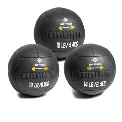 Kit Wall Ball 4 Kg - 6 Kg - 8 Kg em Couro - Equipamentos Line Fitness