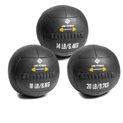 Kit Wall Ball 6 Kg - 8 Kg - 10 Kg em Couro - Equipamentos Line Fitness