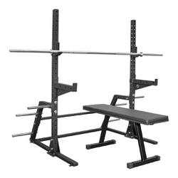 Suporte Cavalete + Barra 2,20 Mts + Acessórios + B... - Equipamentos Line Fitness
