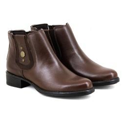 Botina Chelsea Boots Feminina Couro Legitimo Escre... - ESCRETE