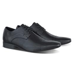 Sapato Social Derby Cap Toe em Couro Legítimo com ... - ESCRETE