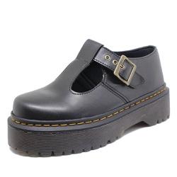 Sapato Inglês Estilo Veggie Boneca Preto Alto - BO... - ESTILO VEGGIE SHOES