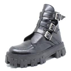 Coturno Tratorado Freyja Estilo Veggie Shoes Preto... - ESTILO VEGGIE SHOES