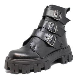 Coturno Tratorado Ravena Estilo Veggie Shoes Preto... - ESTILO VEGGIE SHOES