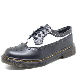 Sapato Oxford Estilo Veggie Rolly Preto Branco - r... - ESTILO VEGGIE SHOES