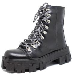 Coturno Tratorado Winnie Estilo Veggie Shoes Preto... - ESTILO VEGGIE SHOES